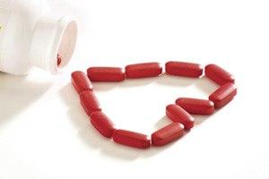 Photo of pills arranged in heart shape